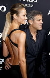 Stacy Keibler and George Clooney Stock Photos