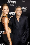 Stacy Keibler and George Clooney Stock Image