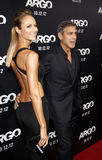 Stacy Keibler and George Clooney Stock Photography