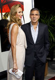 Stacy Keibler and George Clooney Royalty Free Stock Photo