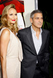Stacy Keibler and George Clooney Stock Images