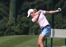 Stacy Lewis at golf Evian Masters 2012 Royalty Free Stock Image