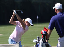 Stacy Lewis at golf Evian Masters 2012 Stock Photography