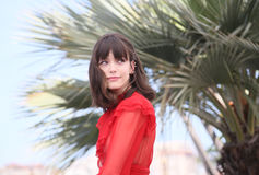 Stacy Martin attends the `Redoubtable Le Redoutable` Stock Image