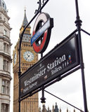 stacyjna tubka Westminster Fotografia Stock