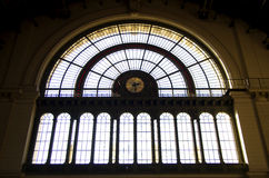 stacyjny pociąg Zdjęcia Royalty Free