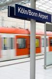 stacyjny pociąg Obraz Royalty Free