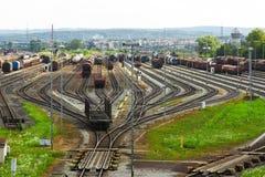 stacyjny pociąg Obrazy Stock