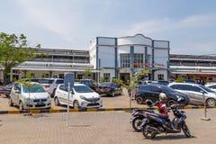 Stacyjny Poncol w Semarang, Zachodni Jawa, Indonezja obraz royalty free