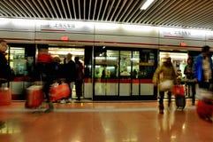 stacyjny Shanghai metro fotografia stock