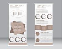 Stacza się up sztandaru statywowego szablon Abstrakcjonistyczny tło dla projekta, Zdjęcie Royalty Free