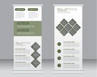 Stacza się up sztandaru statywowego szablon Abstrakcjonistyczny tło dla projekta, biznes, edukacja, reklama Fotografia Stock
