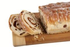 staczająca się chlebowa cynamonowa rodzynka Zdjęcia Royalty Free