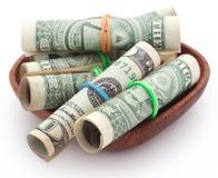 Staczający się dolar amerykański obrazy royalty free