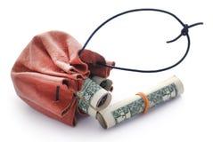 Staczający się dolar amerykański obraz stock