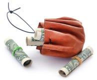 Staczający się dolar amerykański zdjęcie royalty free