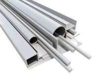 Staczający się metali produkty 3 d czynią Obraz Stock