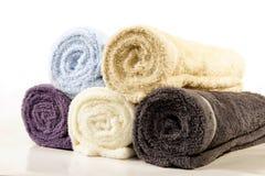 staczający się ręczniki staczać się Obraz Royalty Free