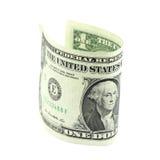 Staczający się jeden dolarowy rachunek Fotografia Stock
