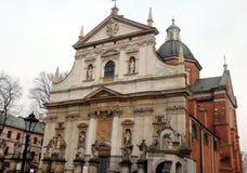 Stad †‹â€ ‹van Krakau Polen het landschap van oude straten, Katholieke kathedralen en middeleeuwse vestingen royalty-vrije stock fotografie