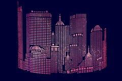 Stad †het abstracte gloving ‹â€ ‹ Stock Afbeeldingen