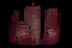 Stad †het abstracte gloving ‹â€ ‹ Royalty-vrije Stock Afbeelding