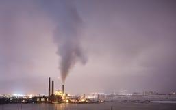 stad över förorening Arkivfoto