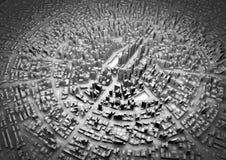 stad 3d Arkivbild