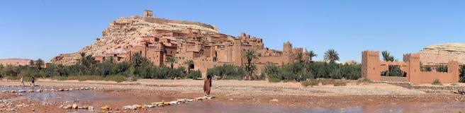 Stad Ait Benhaddou nära Ouarzazate i Marocko Royaltyfri Foto
