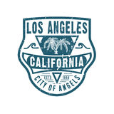 STAD AV ÄNGLAR LOS ANGELES KALIFORNIEN stock illustrationer
