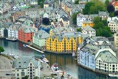 Stad av Aalesund Arkivbilder
