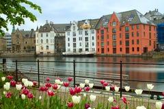 Stad av Aalesund Royaltyfria Bilder