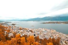 Stad av Aalesund Royaltyfri Foto