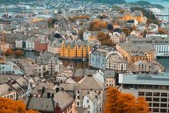 Stad av Aalesund Arkivfoto