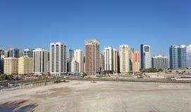 Stad av Abu Dhabi, Förenade Arabemiraten Fotografering för Bildbyråer