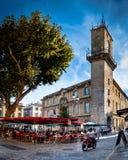 Stad av Aix en Provence Arkivbilder