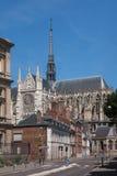 Stad av Amiens och domkyrkan Arkivfoton