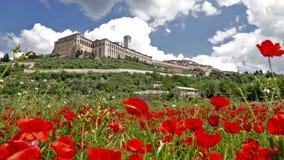 Stad av Assisi i Italien arkivfilmer