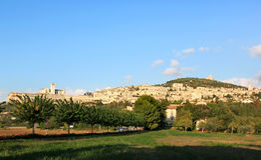 Stad av Assisi i Umbria, Italien royaltyfri fotografi