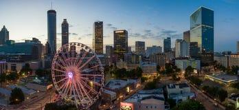 Stad av Atlanta horisont på soluppgång royaltyfria foton