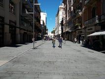 Stad av Bari, sydliga Italien, 06-12-2017: Sikt av via Sparano Arkivfoto