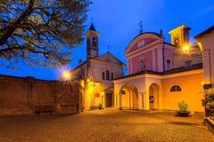 Stad av Barolo, Italien Arkivbild