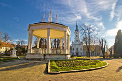 Stad av Bjelovar Central Park Royaltyfri Bild