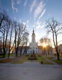 Stad av Bjelovar den centrala fyrkanten Royaltyfri Foto