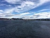 Stad av Bodø, Nordland, Norge Royaltyfri Fotografi