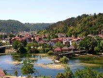 Stad av Bosanska Krupa Arkivbild