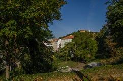 Stad av Brno i södra Moravia för republiktown för cesky tjeckisk krumlov medeltida gammal sikt fotografering för bildbyråer