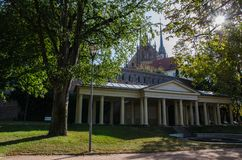 Stad av Brno i södra Moravia för republiktown för cesky tjeckisk krumlov medeltida gammal sikt arkivfoton
