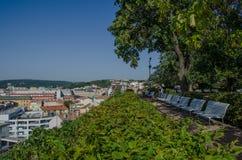 Stad av Brno i södra Moravia för republiktown för cesky tjeckisk krumlov medeltida gammal sikt arkivbild