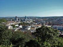 Stad av Brno, Tjeckien Arkivbilder
